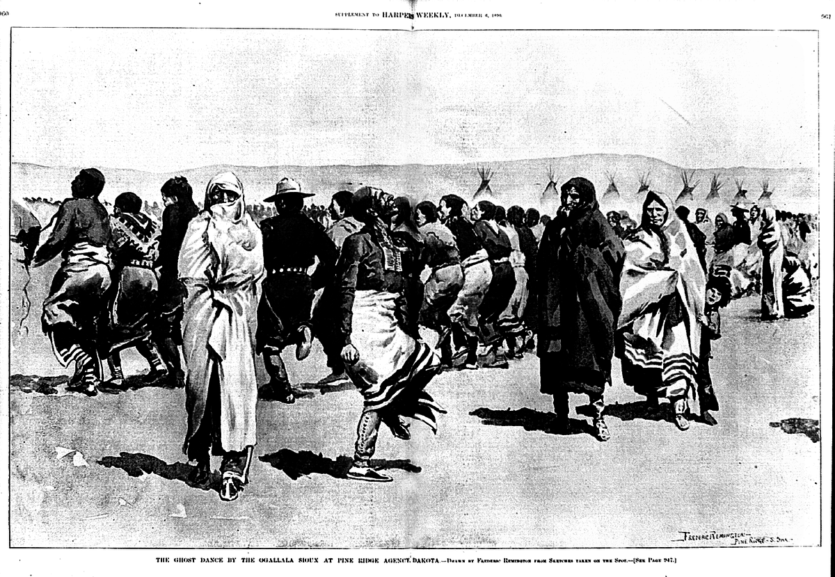Ghost dance at pine ridge