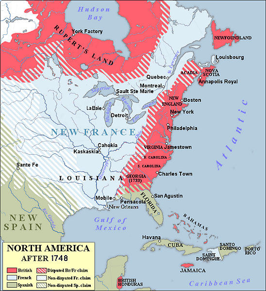 North America 1748